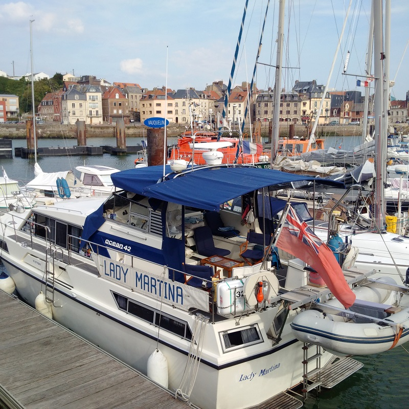 Lady Martina now safe in Dieppe for up to a week