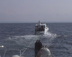 On tow behind Calm Voyager after steering failure