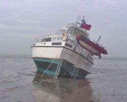 Aground on Foulness Sand