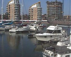 Lady Martina moored at Limehouse