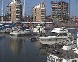 Lady Martina moored at Limehouse