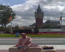At Calais Town Hall roundabout