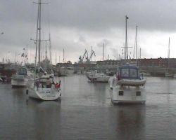 The fleet leaving Calais harbour...