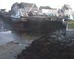 Fishing boats dry out at low water at St Vaast