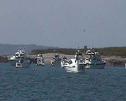 MBM Fleet at anchor at Iles St Marcouf
