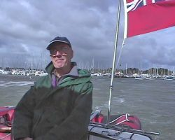 Lou's dad on board at Lymington