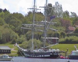 Sail training ship at Buckler's Hard