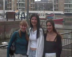 Debbie, Lou & Susan at Limehouse Basin