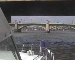 Making our way up the Thames