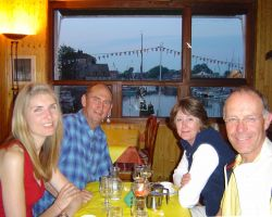 Dinner with Ann and Stuart in Honfleur