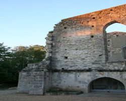 The ruins of the old abbey are used as an outdoor theatre