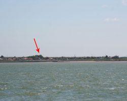 We need binoculars to spot our Treasuer's beachfront house at Birchington!