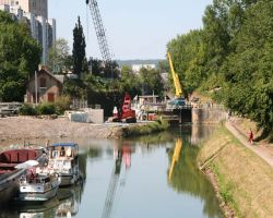 Work at Lock 42 in full swing