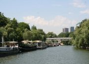 Houseboats adorn the banks of the upper Seine