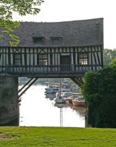 The old mill house was one of five which spanned the bridge at Vernon