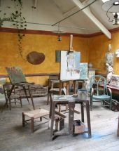 The artists' studio at the Hotel Baudy