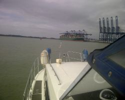 Passing Harwich container port