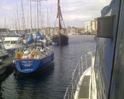 Arriving at Ipswich dock