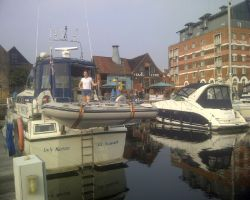 Safely moored up at Neptune marina