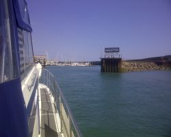 Lady Martina approaching Brighton Marina Entrance