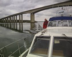 Passing Under The Orwell High Bridge