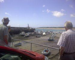Peter Donne David showing us around Jersey