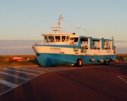The fantastic amphibious ferry to Tatihu fortified island nuseum makes an adeal outing