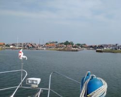 Approaching Marken from the Markermeer