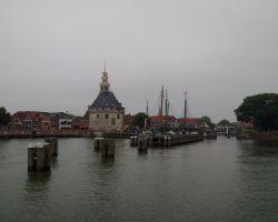 Approaching Hoorn harbour from Markermeer
