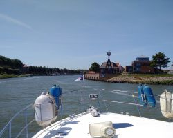 Approaching the entrance to Medemblik harbour