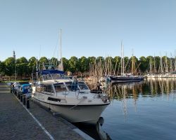 Lady Martina moored by the west wall in Medemblik's Westerhaven