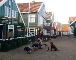 Visiting the Marken museum with Max
