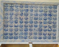 Collection of biblical tiles in St Nicholas protestent church in Broek-in-Waterland
