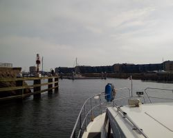 Approaching Seaport Marina Amsterdam