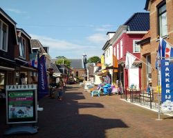 Grou shopping street and church