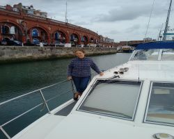 Kathleen on Lady Martina moored in Ramsgate inner harbour