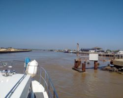 The entrance to Southwold Harbour, just a precaution to steer to starboard around this 'knuckle'ahead