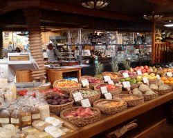 Fine produce beautifully displayed in M.Gosselin's historic shop. The 'Harrod's' of St Vaast