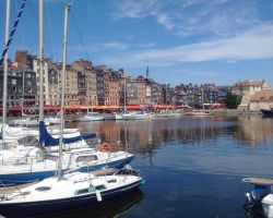 Lady Martina rafted in the charming and historic Vieux Marina Honfleur