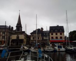 Leaving the lovely Honfleur harbour with its view this morning