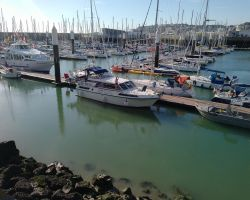 Safely Moored in the Le Havre Anse de Regates Marina