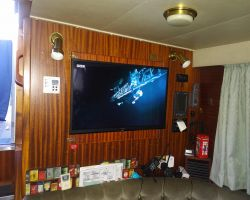 A New Flat Screen TV and Monitor installed for the 2017 Cruising Season