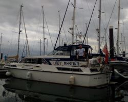 Lady Martina moored at Woolverstone Marina
