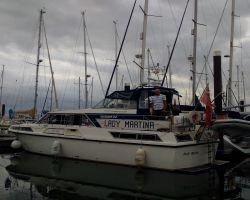 Lady Martina moored at Woolverstone Marina