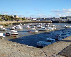 Beautiful Port-en-Bessin from the harbour wall