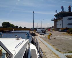 Lady Martina in Ouistreham Lock