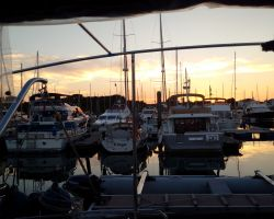 Sunset in Lymington from Lady Martina
