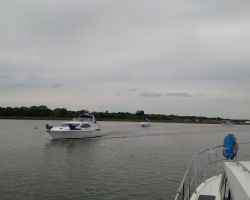 'Passing Like Ships in the Night' as the other Broom boats had been going other way on The Deben!