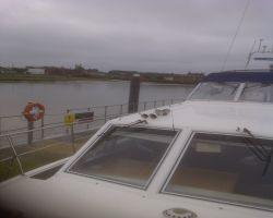Lady Martina moored overnight at Breydon Water pontoon