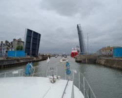 Lowestoft Bascule Bridge opening for us